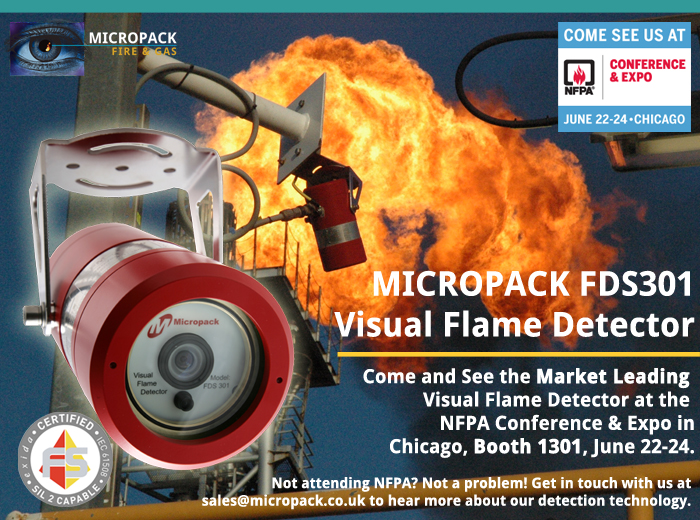 Micropack Visual Flame Detection NFPA Conference and Expo Web Banner 700x520px